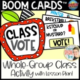 Class Vote BOOM Card Ice Breaker Activity with Lesson Plan
