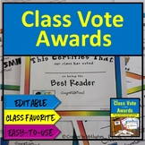 Class Awards - Let Your Class Vote Activity