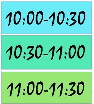 Class Wall Schedule Template