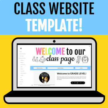 Class Website Template! | Google Sites Distance Learning & Back to School