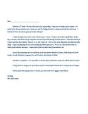 Class Welcome Letter