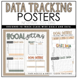 Class-Wide Data Posters for Data Wall - Neutral/Boho Data Posters   EDITABLE