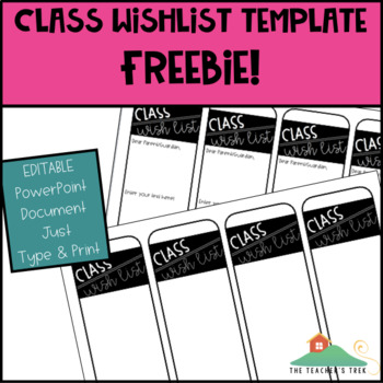 Class Wish List | Back to School FREEBIE