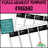 Class Wish List | Back to School FREEBIE
