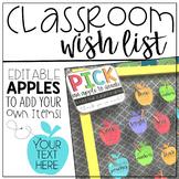 Classroom Wish List Freebie {Editable}