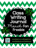 Class Writing Journal March Fan Freebie