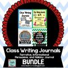 Class Writing Journals-  The Bundle