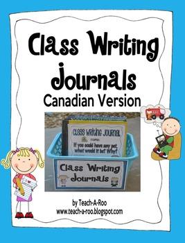 Class Writing Journals- Canadian Version