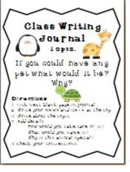 Class Writing Journals- Im Done Activities