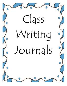 Class Writing Journals for Winter