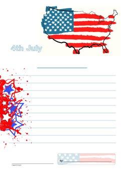 Class Writing Templates — AMERICA THEME