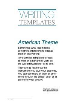 Class Writing Templates — AMERICA THEME [sample]