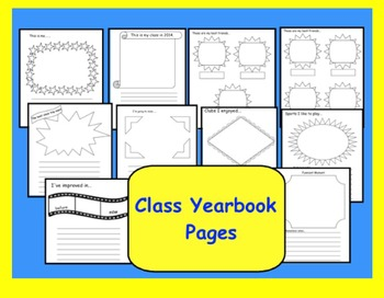 Class Yearbook Pages (Gr. 3-6)