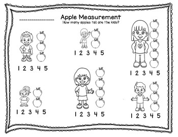 Class and Independent Apple Activities