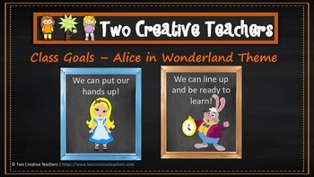 Class and Student Goals Alice in Wonderland Theme