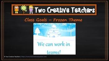 Class and Student Goals Frozen Theme