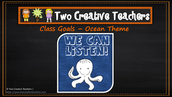 Class and Student Goals Ocean Theme