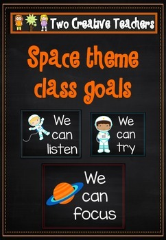 Class and Student Goals Space Theme