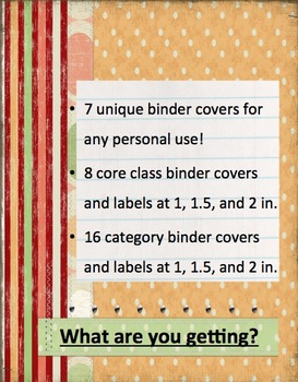 Binder covers and labels