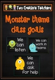 Class and student goals Monster theme