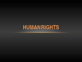 Class discussion about Human Rights