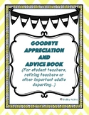 Class goodbye book for student teachers or other staff leaving
