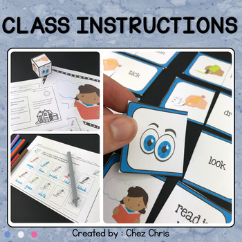 Classroom English - Class Instructions : Learn, Work and Play ! Back to School !