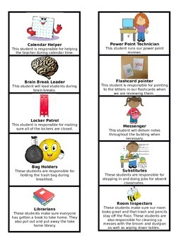 Class jobs with descriptions