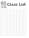 Class list