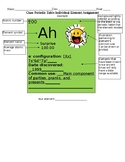 Class-made Periodic Table Individual Element Assignment
