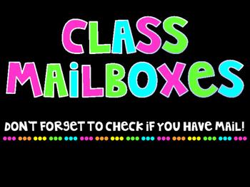 Class mailbox sign