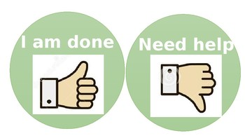 Class mangement hand signs label