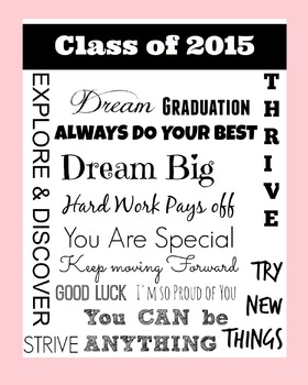 Class of 2015   End of the Year Poster : Pink