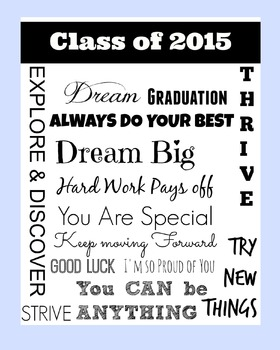 Class of 2015 : End of the Year Poster : Blue