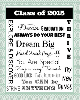 Class of 2015 : End of the Year Poster : Green