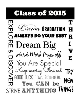 Class of 2015 : End of the Year Poster : White