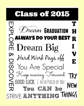 Class of 2015 : End of the Year Poster : Yellow