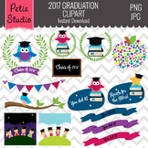 Class of 2017 Owls // Graduation Owls // 2017 Graduation Sayings - EV124