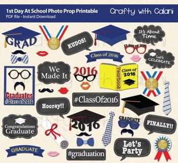 Class of 2017 Graduation Party Photo Booth Prop, Graduation Printables
