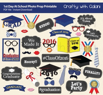 image relating to Printable Graduation Photo Booth Props referred to as Cl of 2017 Commencement Get together Picture Booth Prop, Commencement Printables
