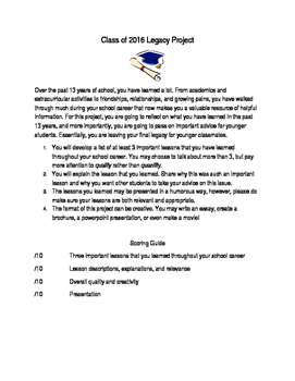 Class of 2016 Legacy Project
