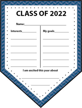 Back to School Banner Class of 2018 - Goals & Interests with Welcome (editable)