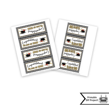 Class of 2018 Graduation Party Favor Printable Bag Toppers