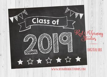 Class of 2019 sign - PRINTABLE