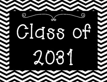 Class of 2019 to Class of 2032 High School Graduation Posters