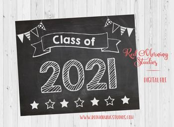 Class of 2021 sign - PRINTABLE