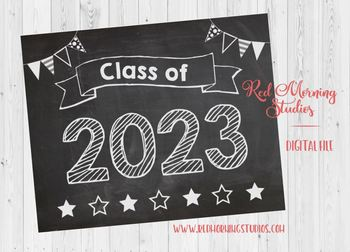 Class of 2023 sign - PRINTABLE