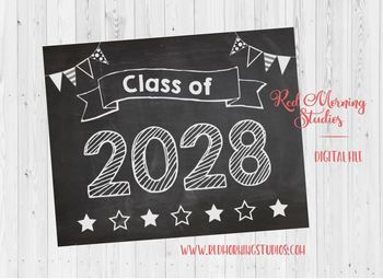 Class of 2028 sign - PRINTABLE