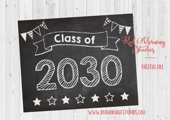 Class of 2030 sign - PRINTABLE