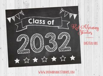 Class of 2032 sign - PRINTABLE